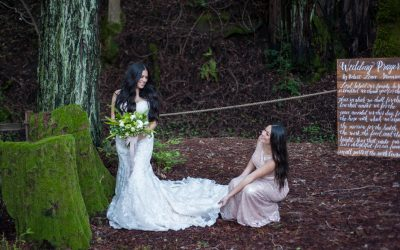 Weddings at Redwood Retreat at Fernwood Cellars | Pantone Inspired Styled Shoot featured