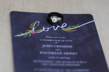 wedding invitation and ring by Jen Vazquez Photography Rachelle and Josh 22