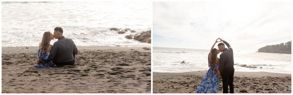 muir beach muir wood engagement session jen vazquez photography