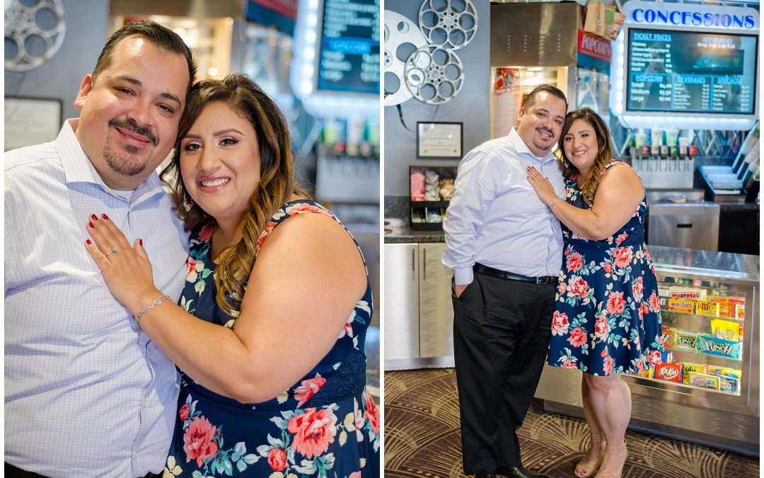 Los Gatos Theatre Engagement Session with Clarissa and Franco