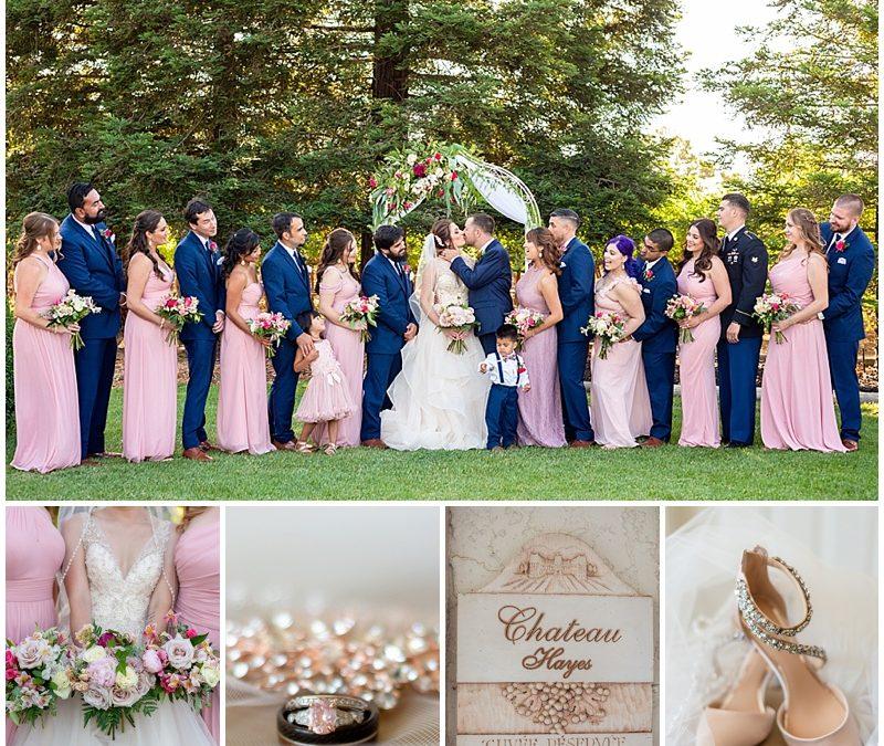 Elegant Blush Wedding at Gilroy Estate | Kayla + Chris | Jen Vazquez Photography