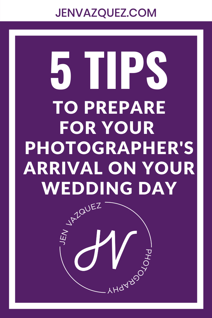 to prepare for your photographer's arrival on your wedding day 3