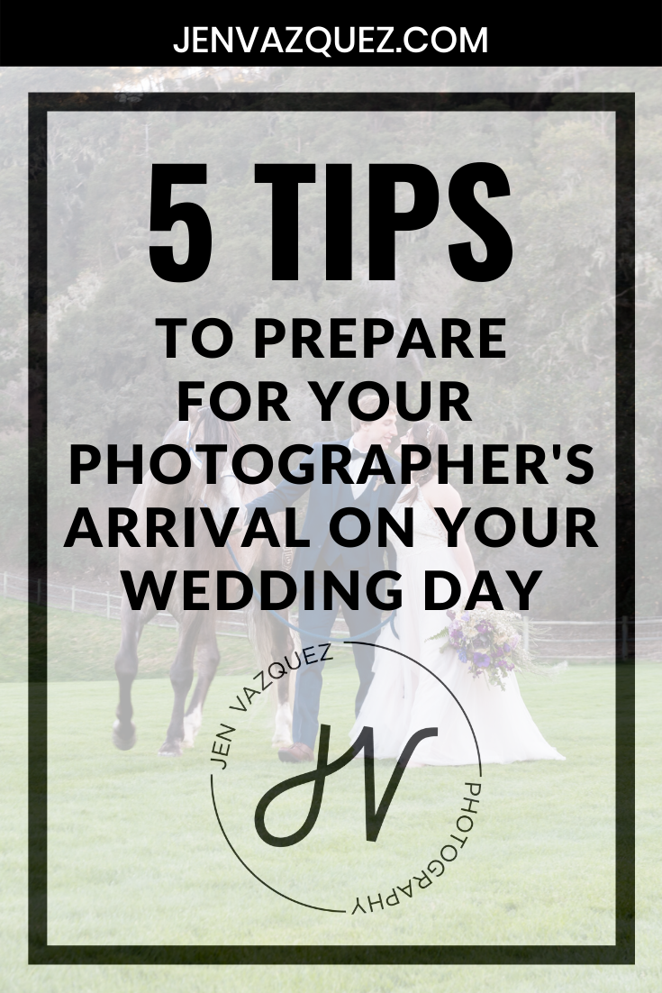 to prepare for your photographer's arrival on your wedding day 5