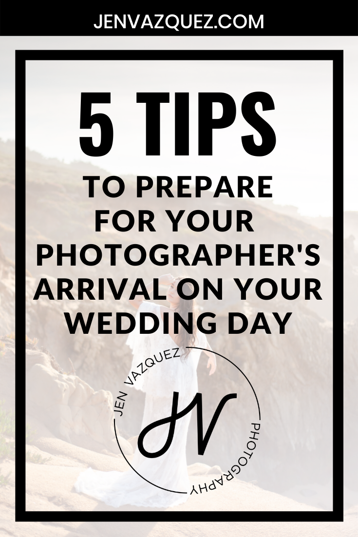 to prepare for your photographer's arrival on your wedding day 7