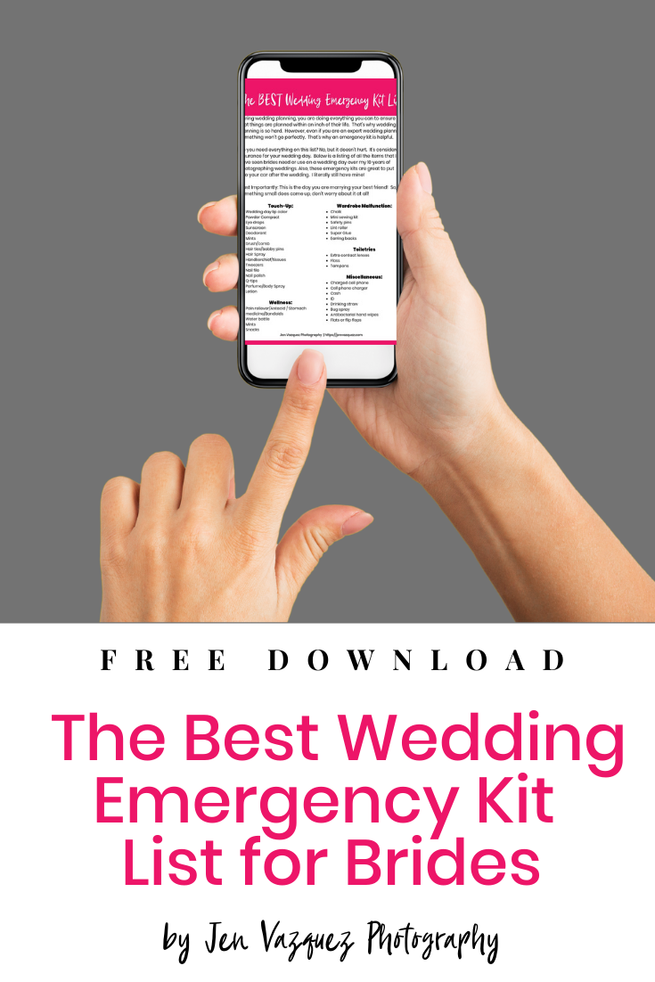 the Best Wedding Emergency Kit List for Brides by jen vazquez photography 3