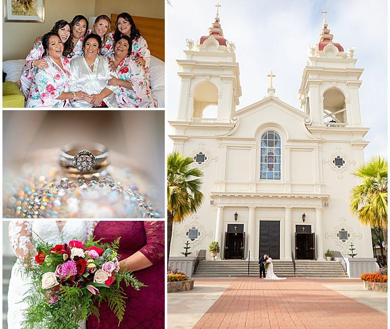 Santa Clara Catholic wedding at Five Wounds with reception at Fiorillo's Italian Restaurant   Clarissa + Franco   Jen Vazquez Photography