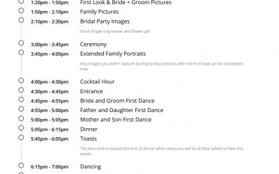 A Photographer Focused Wedding Timeline | Jen Vazquez Photography