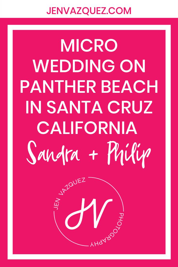 Micro Wedding on Panther Beach in Santa Cruz California  Sandra + Philip 2