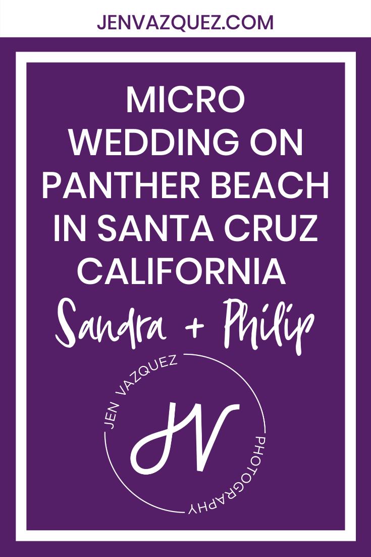 Micro Wedding on Panther Beach in Santa Cruz California  Sandra + Philip 3