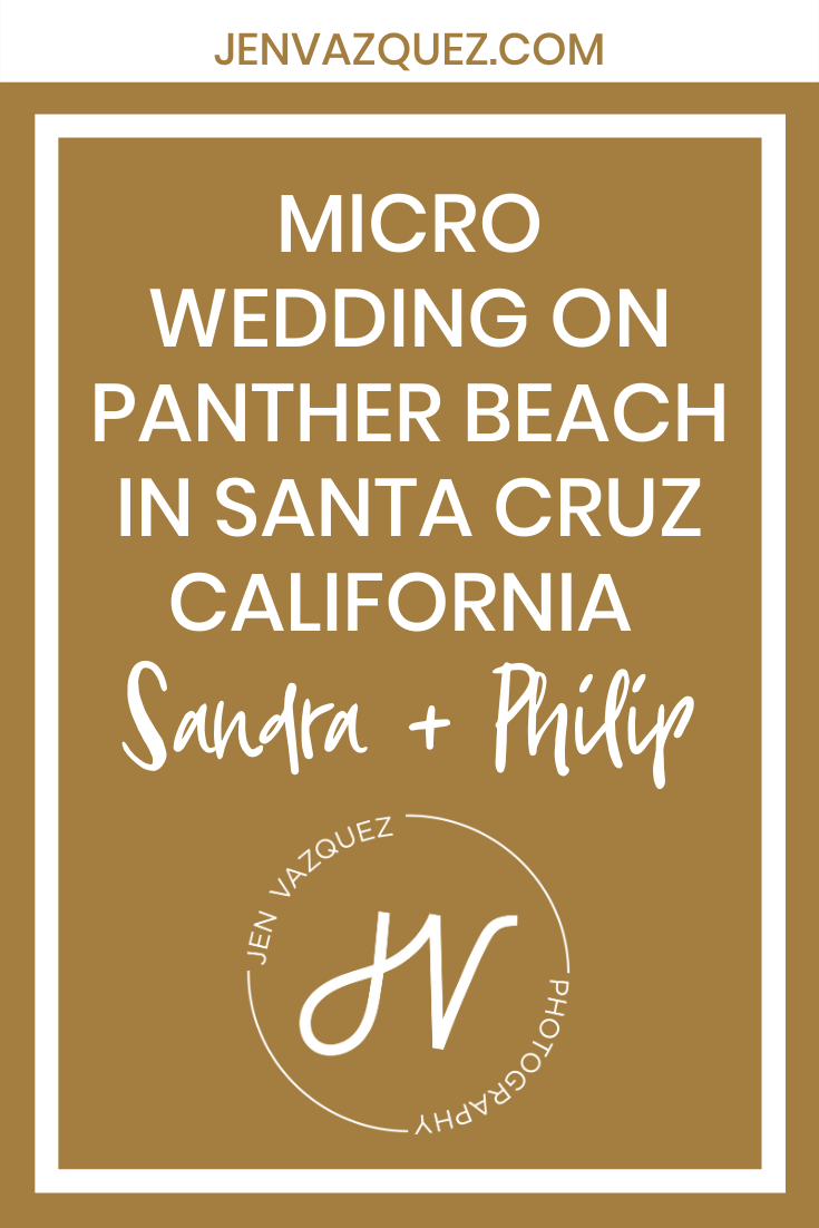 Micro Wedding on Panther Beach in Santa Cruz California  Sandra + Philip 4