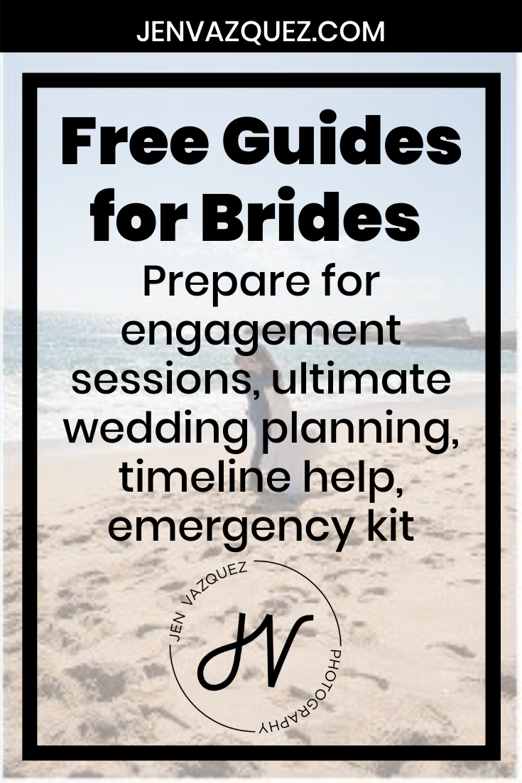 Free Guides for Brides  Prepare for engagement sessions, ultimate wedding planning, timeline help, emergency kit 6