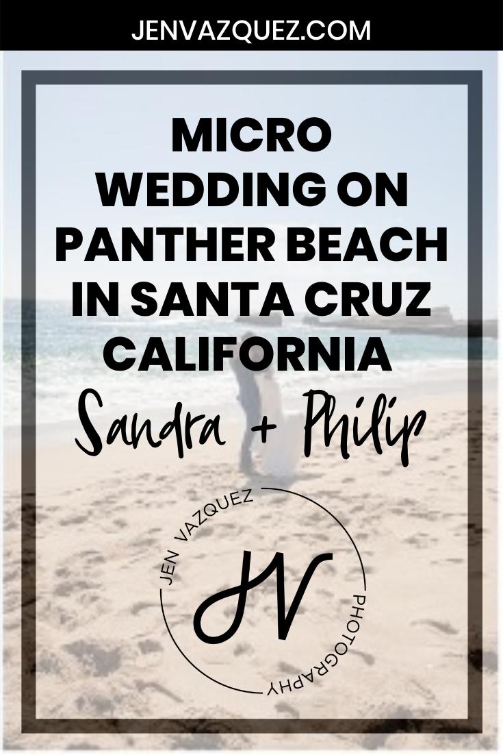 Micro Wedding on Panther Beach in Santa Cruz California  Sandra + Philip 6