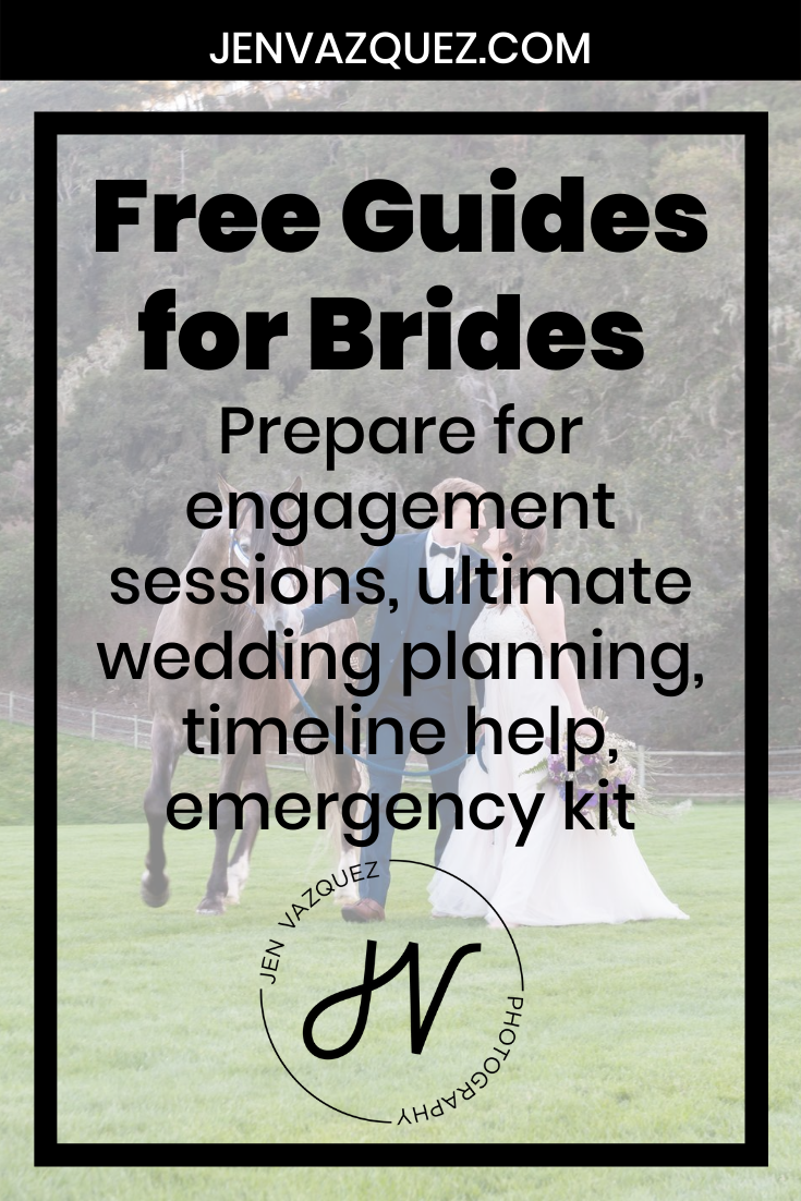 Free Guides for Brides  Prepare for engagement sessions, ultimate wedding planning, timeline help, emergency kit 7