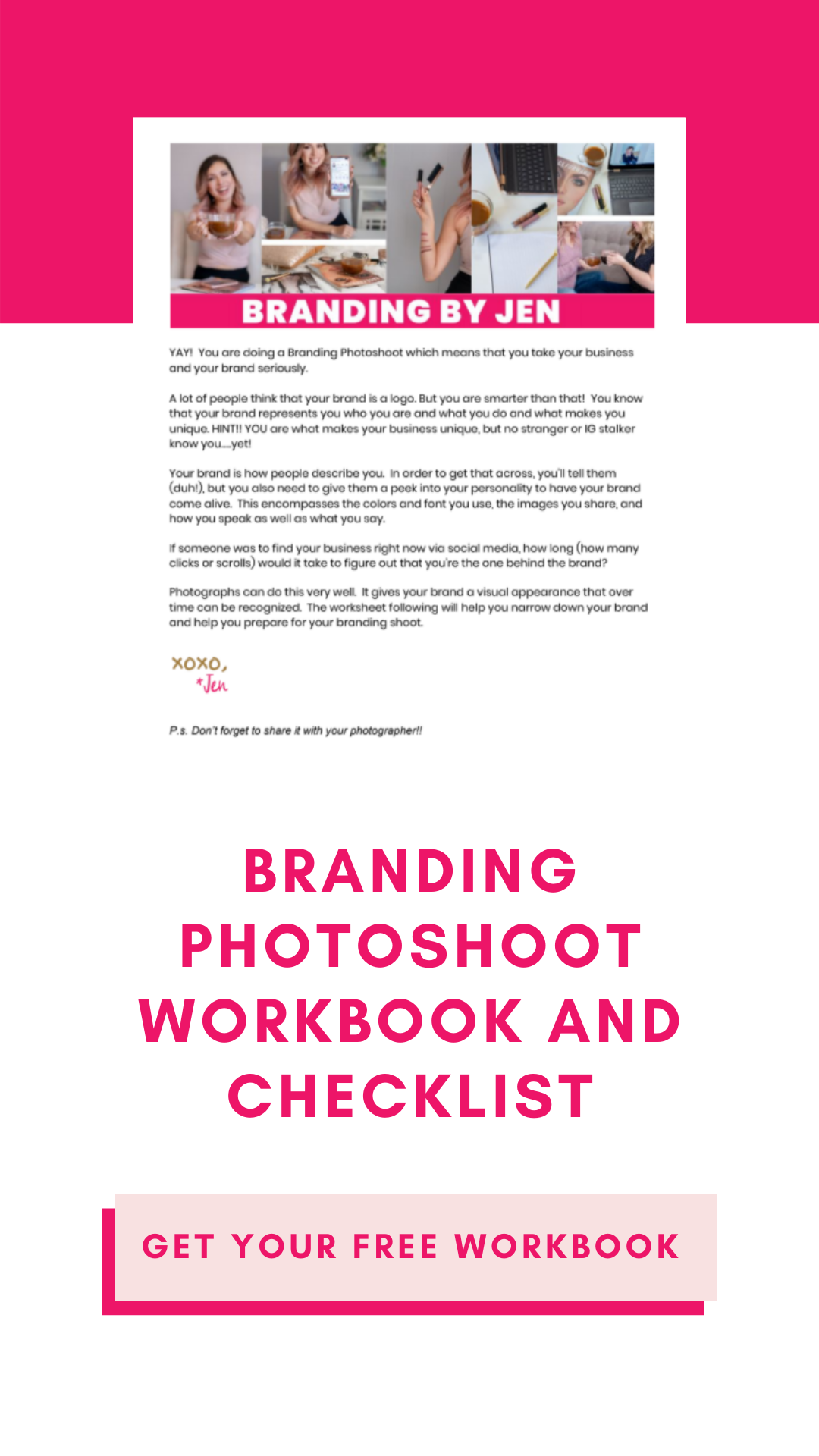 Branding Photoshoot Workbook and Checklist 2