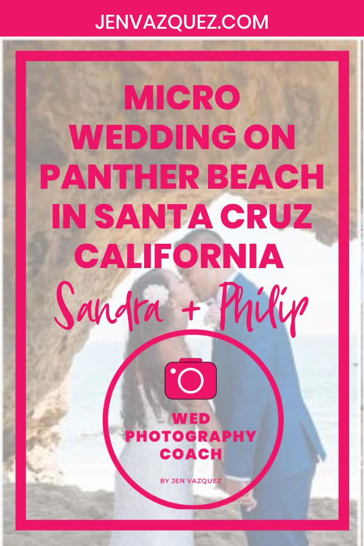 Micro Wedding on Panther Beach in Santa Cruz California  Sandra + Philip 9