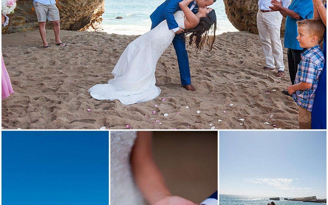 Micro Wedding on Panther Beach in Santa Cruz California | Sandra + Philip