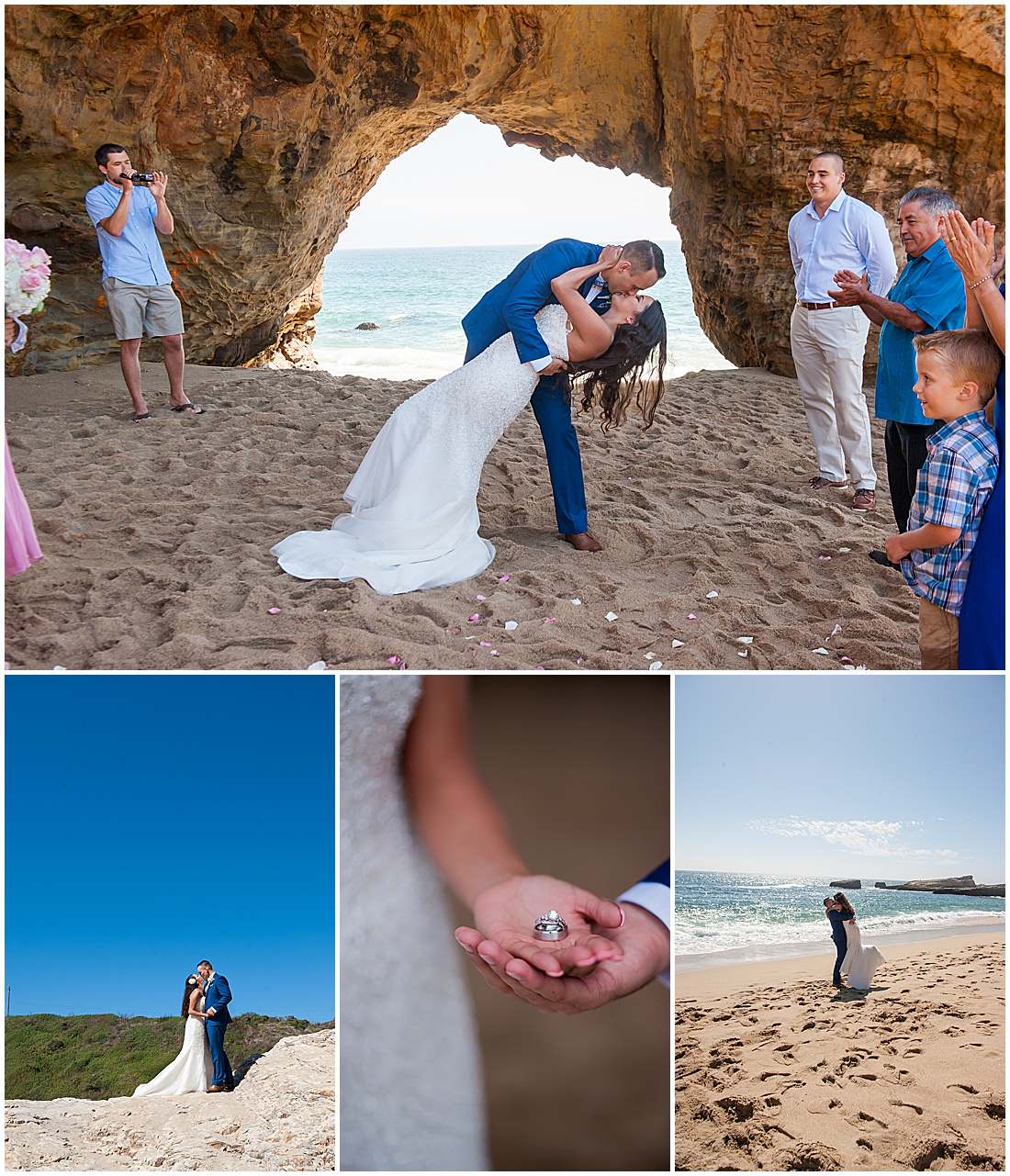 intimate Panther Beach Micro Wedding by Jen Vazquez Photograph_0025
