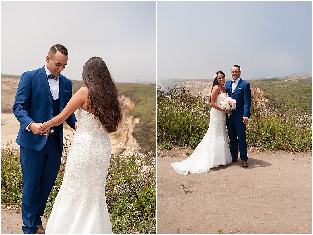 intimate Panther Beach Micro Wedding by Jen Vazquez Photography_0015