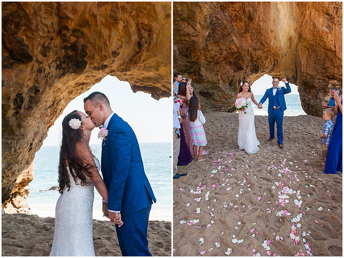 intimate Panther Beach Micro Wedding by Jen Vazquez Photography_0016