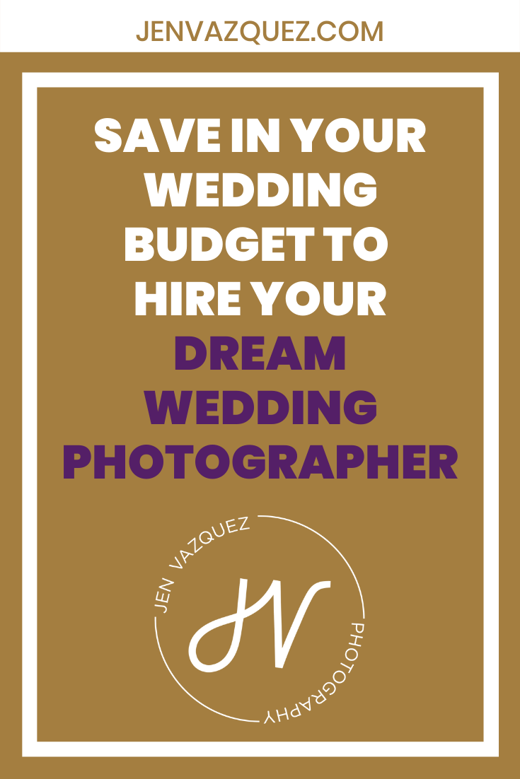 save in your wedding budget to hire your dream wedding photographer