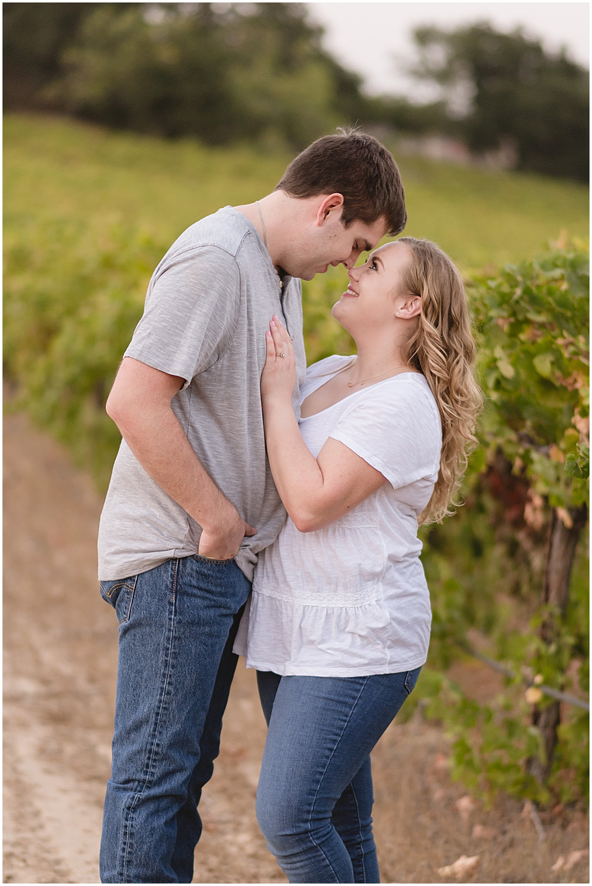 Fortino Winery Engagement Session | Ashley + Stephen