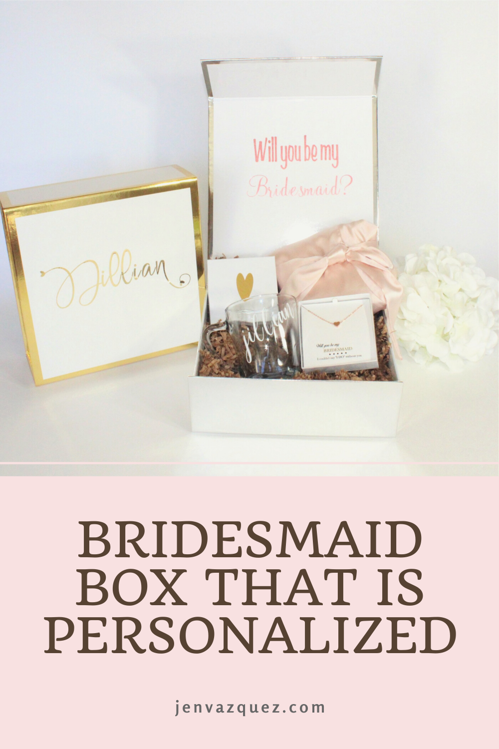 bridesmaid box personalized