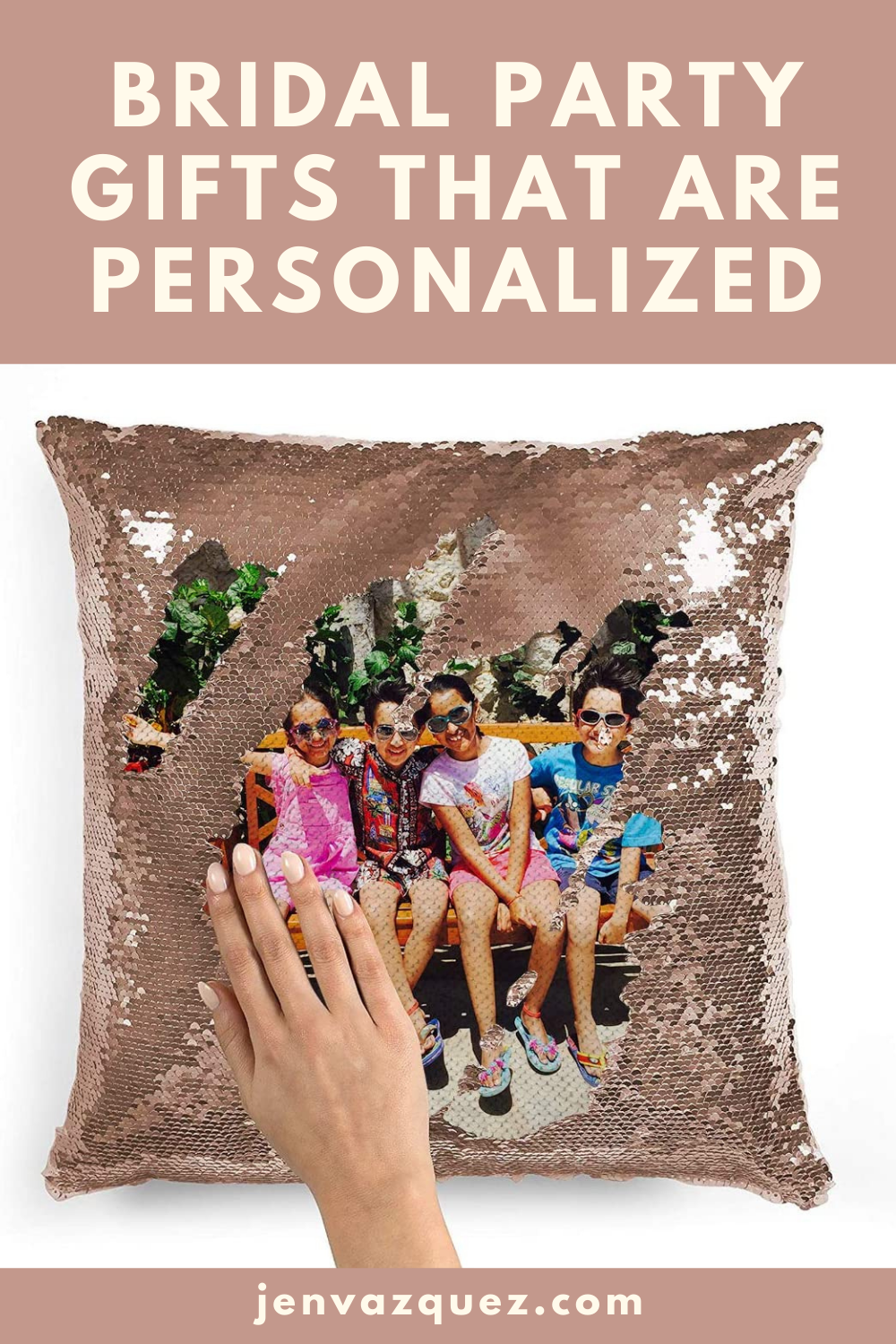 Fun Sequin Pillow with Image