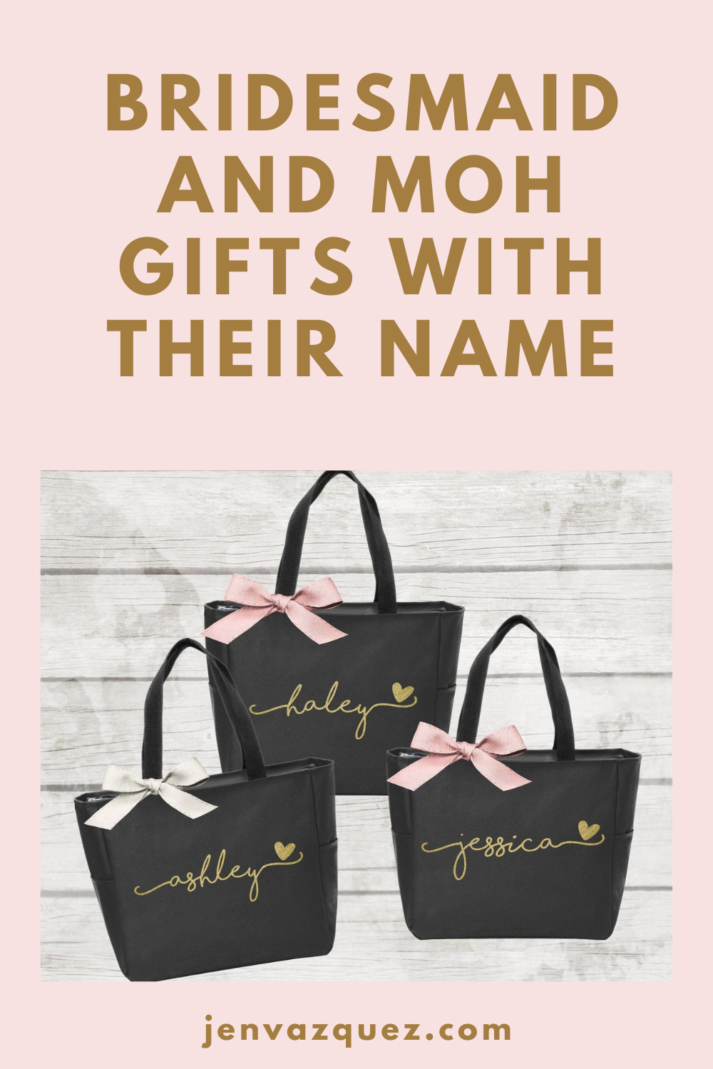 personalized wedding party totes