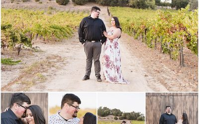 Fortino Winery Engagement Session | Zulaikha and Greg
