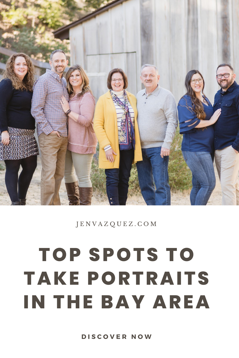 Click here to find out the top 5 Spots to Take Portraits in the Bay Area for maternity, engagement sessions, family portraits and so much more by Jen Vazquez