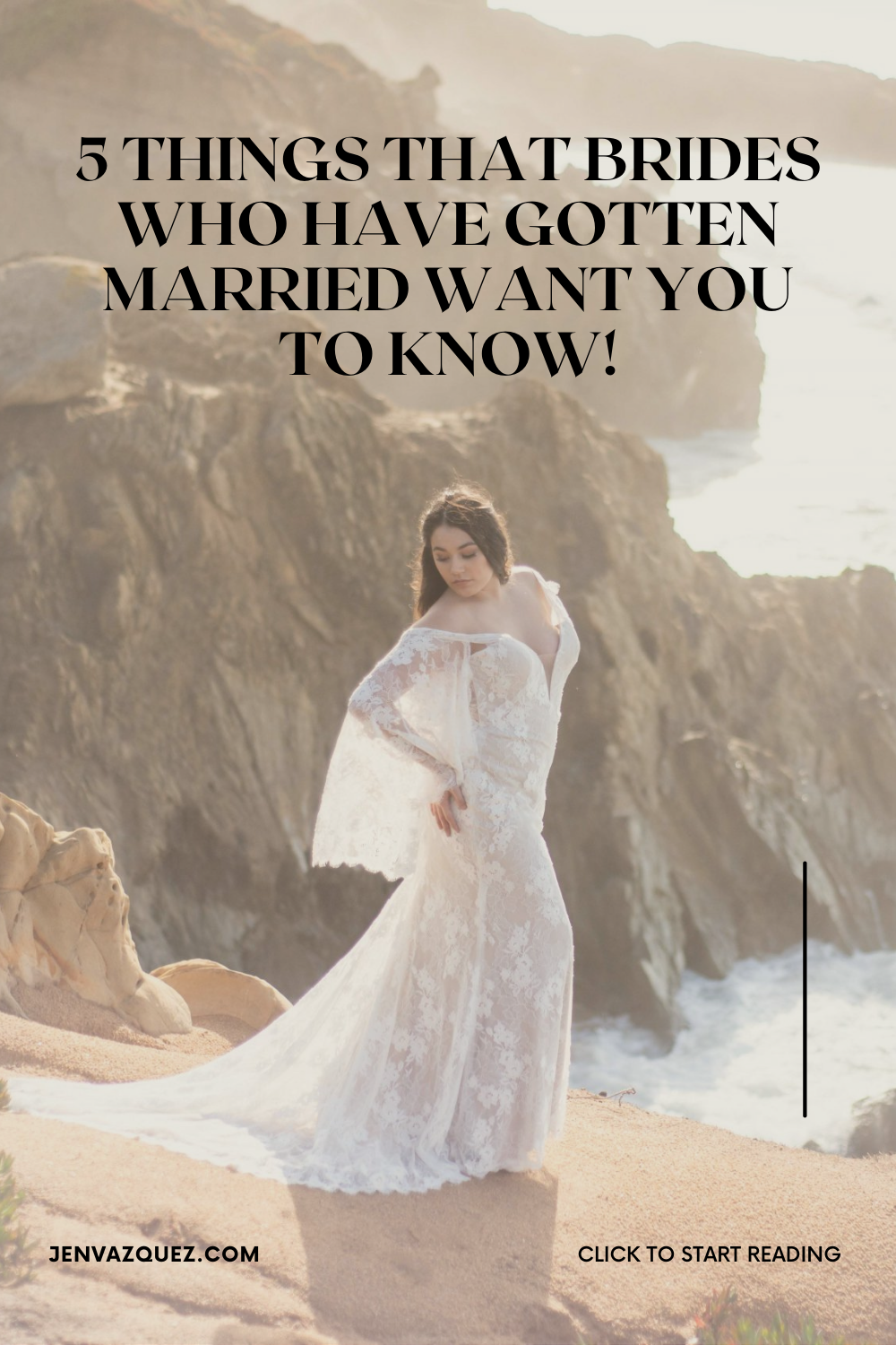 "What brides who have gotten married want you to know! I bet you've heard advice like, ""get a good sleep the night before your wedding"".  Or have you heard these? ""try to stay in the moment on your wedding"" or ""make sure you eat"".   That's good advice but here's real-world advice straight from my past brides"