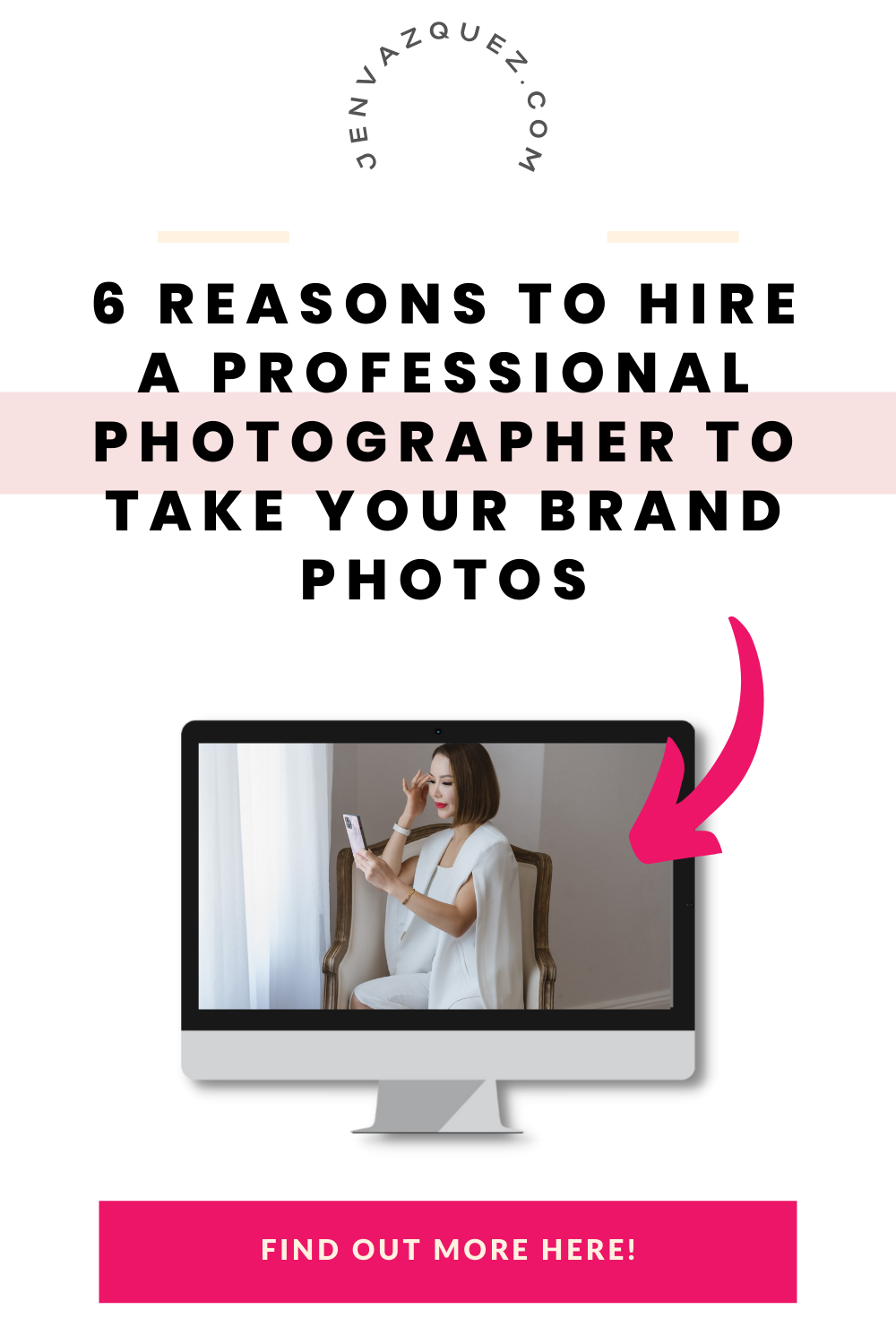 6 Reasons to Hire a Professional Photographer to take your Branding Photos by Jen Vazquez San Jose Brand Photographer