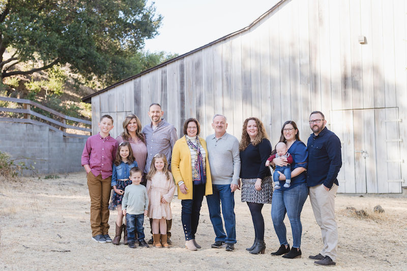 generations family portrait at bernal historic park