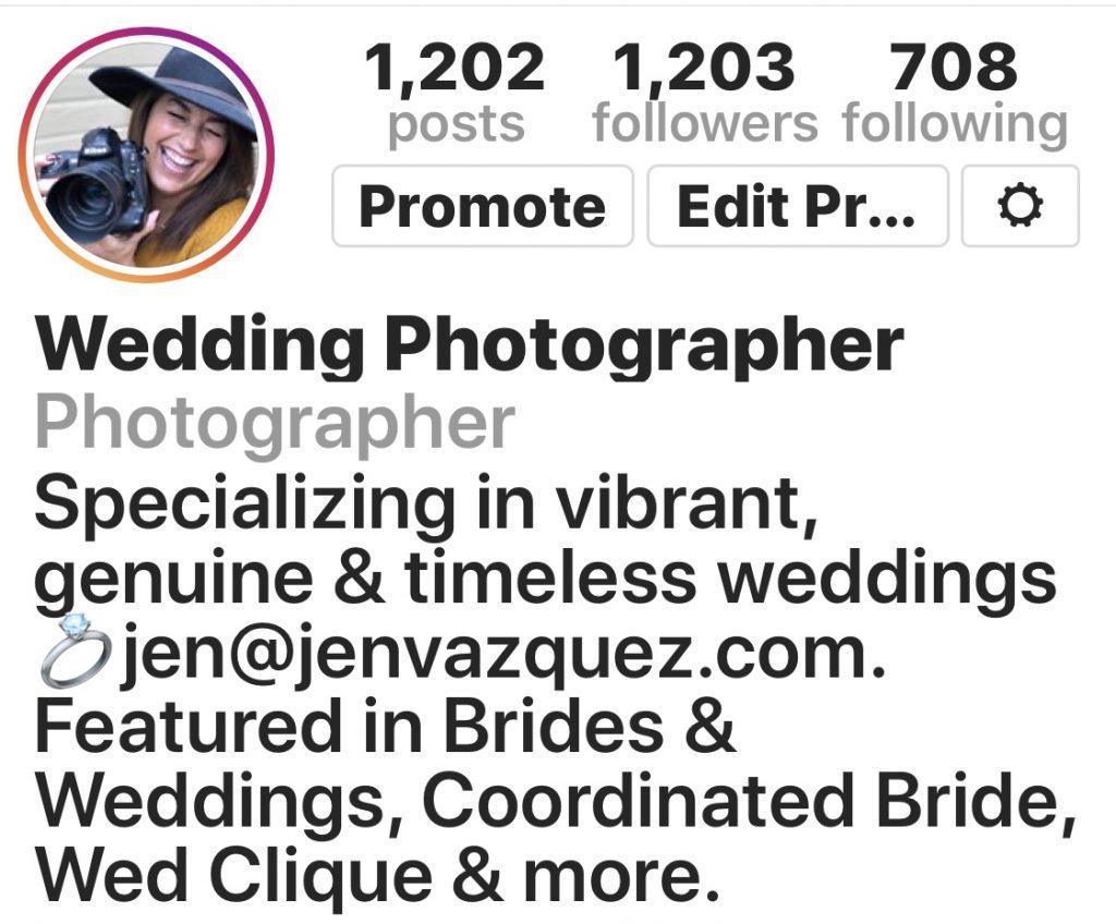 Jen Vazquez Photography Instagram