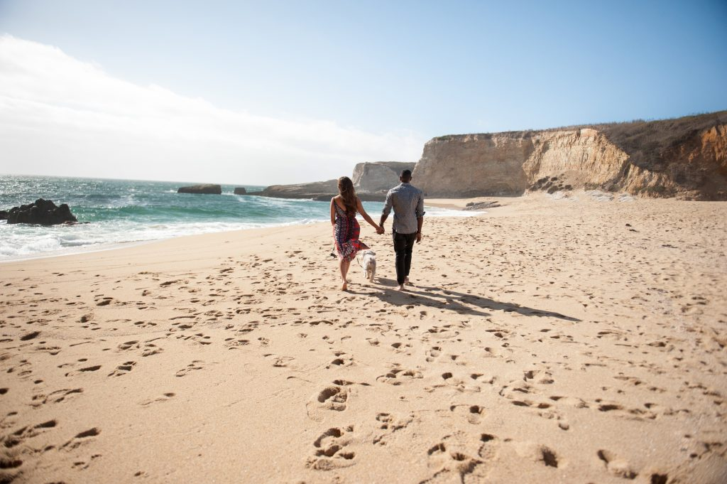 engagement on the beach 2