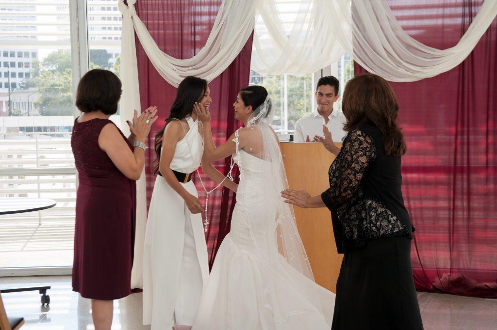 Wedding at San Jose City Hall Rotunda Andrea + Whitney 10