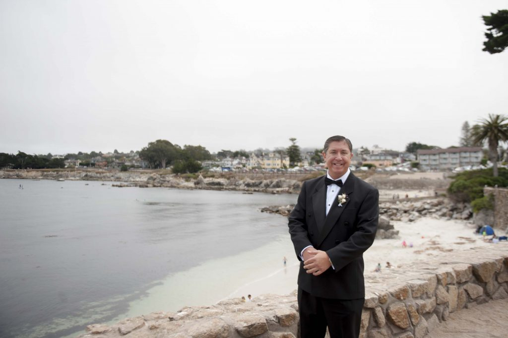Groom at Lover's Point in Monterey