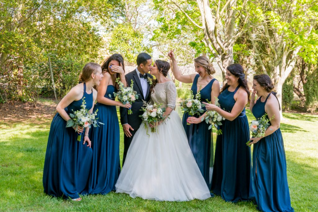 Napa wedding bridal party by jen vazquez photography with Marlon and Venessa