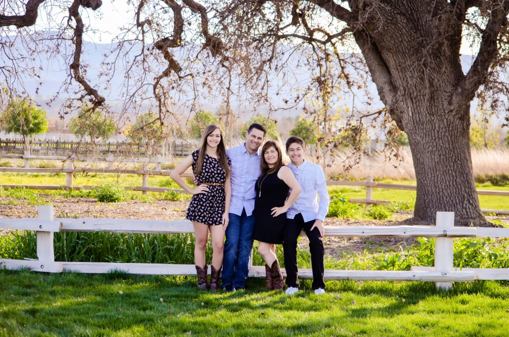 Family Portrait by San Jose Photographer Jen Vazquez at Martial Cottle Park in San Jose, California